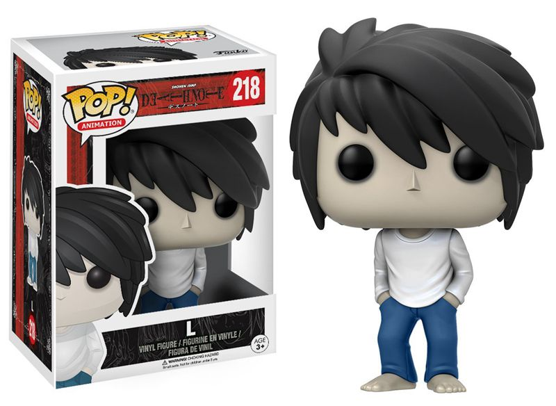 Funko pop official Anime Death Note - L Vinyl Action Figure Collectible Model Toy with Original Box  funko pop zootopia fox nick 186 pvc action figure collectible model toy 10cm kt2247