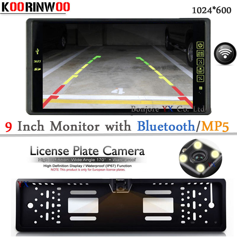 Wireless Car rear view camara with Car Monitor Bluetooth MP5/MP4 FM Media USB SD SLOT Video RCA Parking Accessories Multi Media wireless adopt 9 lcd tft 1024 800 car monitor with bluetooth mp5 mp4 fm usb sd slot video input parking car rear view camera