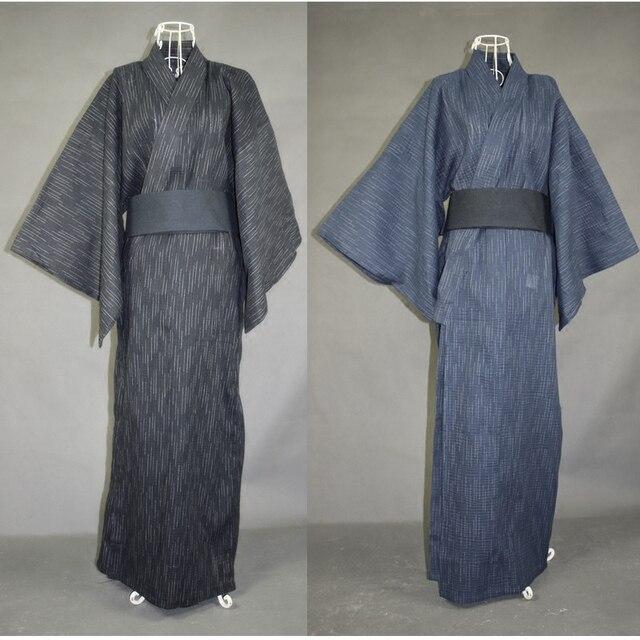 2016 Горячий Традиционный Японский мужская Кимоно Юката Хлопок Длинный Халат Полный Рукав Ханбок Мужчины Удобные Пижамы