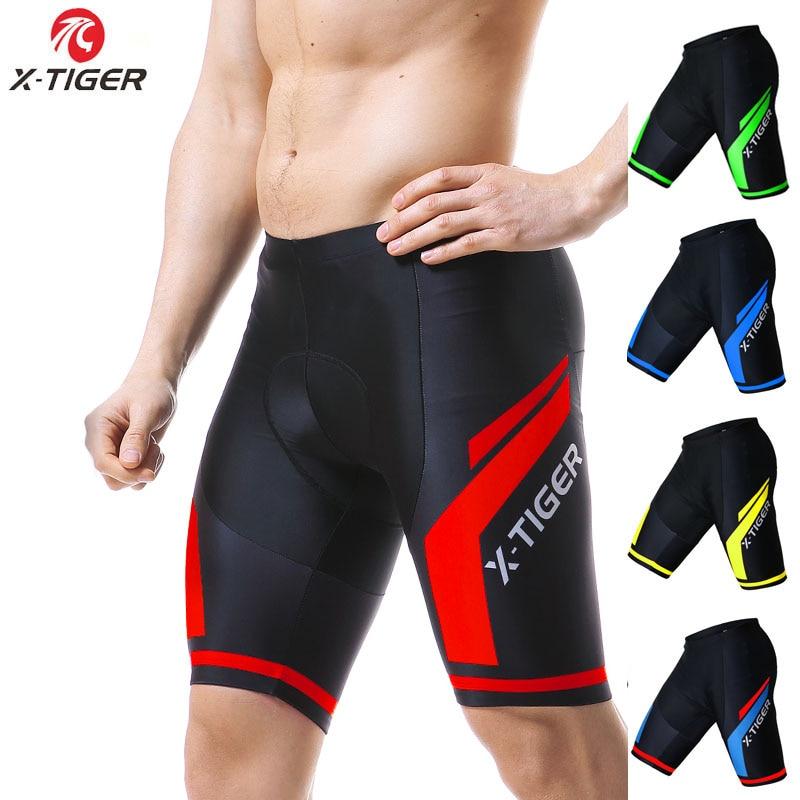X-TIGER 8 Colors Coolmax 5D GEL Padded Cycling Shorts Shockproof MTB Bicycle Shorts Road Bike Shorts Cycling Tights