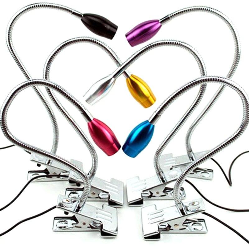 Moderní LED čtecí lampa s lampami pro oční stojánky Flexibilní stolní lampy pro stolní počítače USB knižní lampy 1W High Power Colorfull