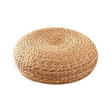 Handmade Straw Cushion Thickened Round Yoga Floor Mat for Meditation Rest  twenty one pilots lol surprise