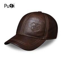 HL125 Spring free shipping genuine leather baseball cap