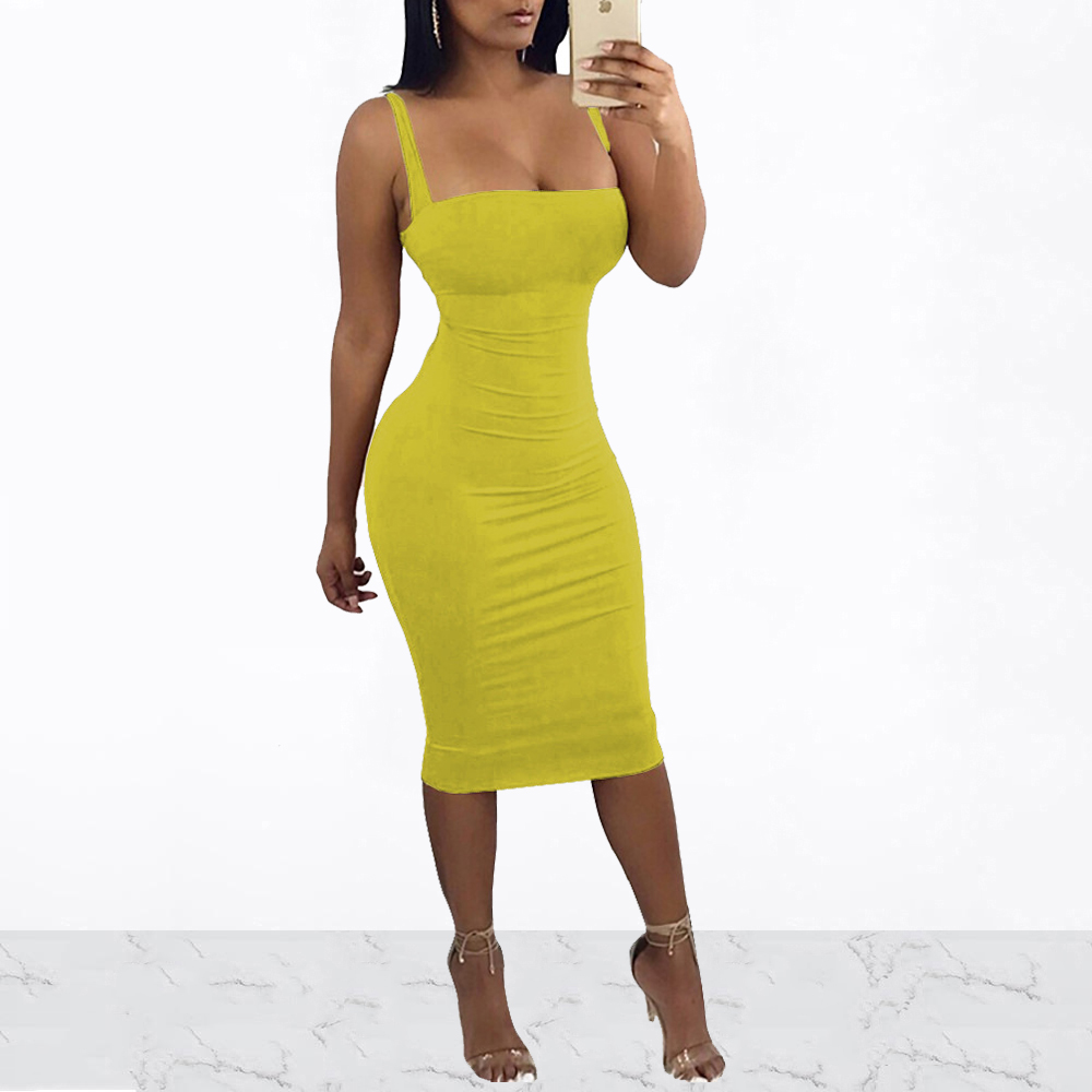 Sleeveless Spaghetti Strap Women <font><b>Dress</b></font> Knee Length <font><b>Backless</b></font> Summer Bodycon Bandage Back <font><b>Lace</b></font> Up Casual Elegant Vestidos image