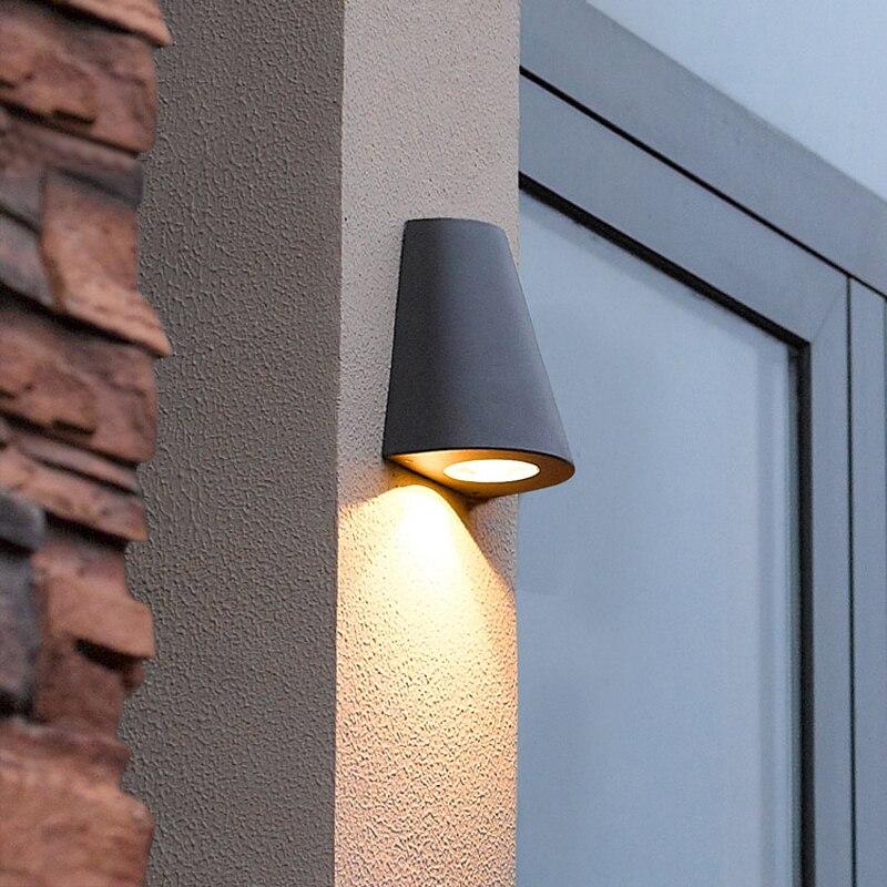 Aluminium Led porte lampe moderne extérieur applique murale Led 3 W étanche abat-jour jardin mur luminaires balcon cour éclairage