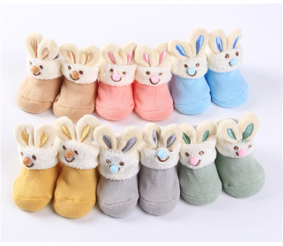 Baby Socks Baby Toddler Skid Leathe Soft Socks Cotton Warm Winter Cartoon Socks For Newborn Baby Boy Girls Suitable 0-12Month