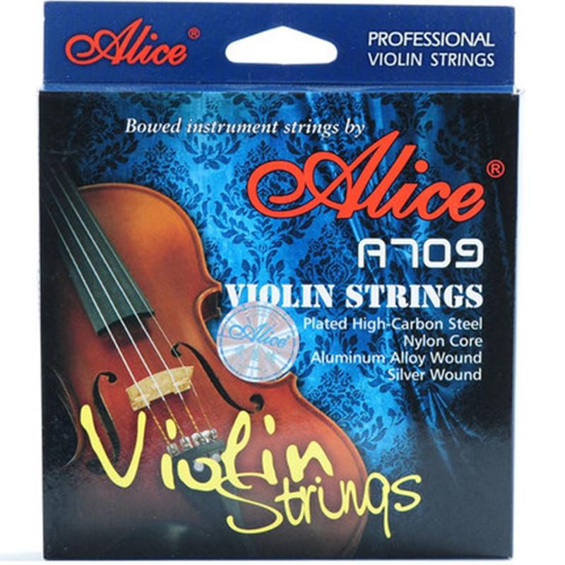 Houslový řetízek Alice Brand A709 nejvyšších violínových nylonových strun vylepšil model A708