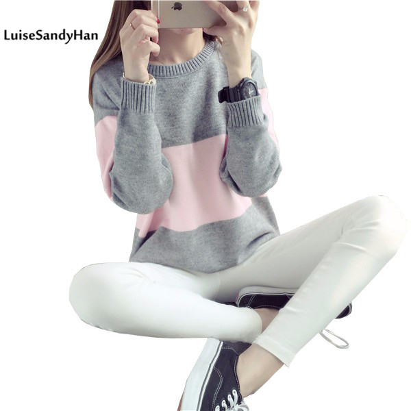 2016 Women Sweather Warm Autumn and Winter Casual Long Sleeved Pullover ...