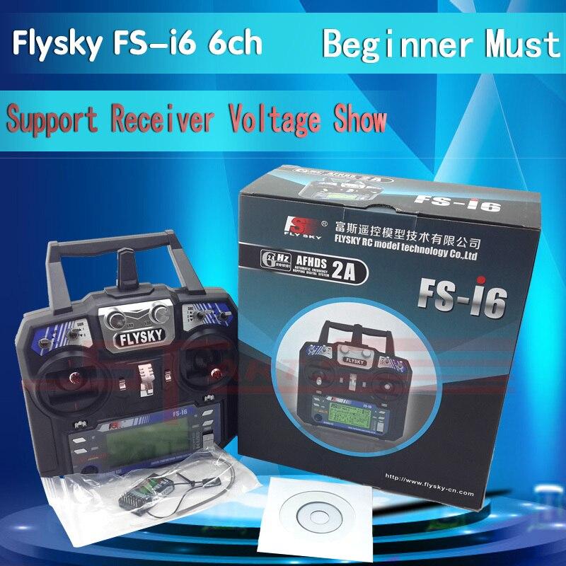Most Popular FlySky FS-i6 2.4G 6CH AFHDS RC Transmitter With FS-iA6 FS-iA6B Receiver for Airplane Heli UAV Multicopter Drone flysky fs i6s 2 4g 6ch afhds transmitter with fs ia6b receiver