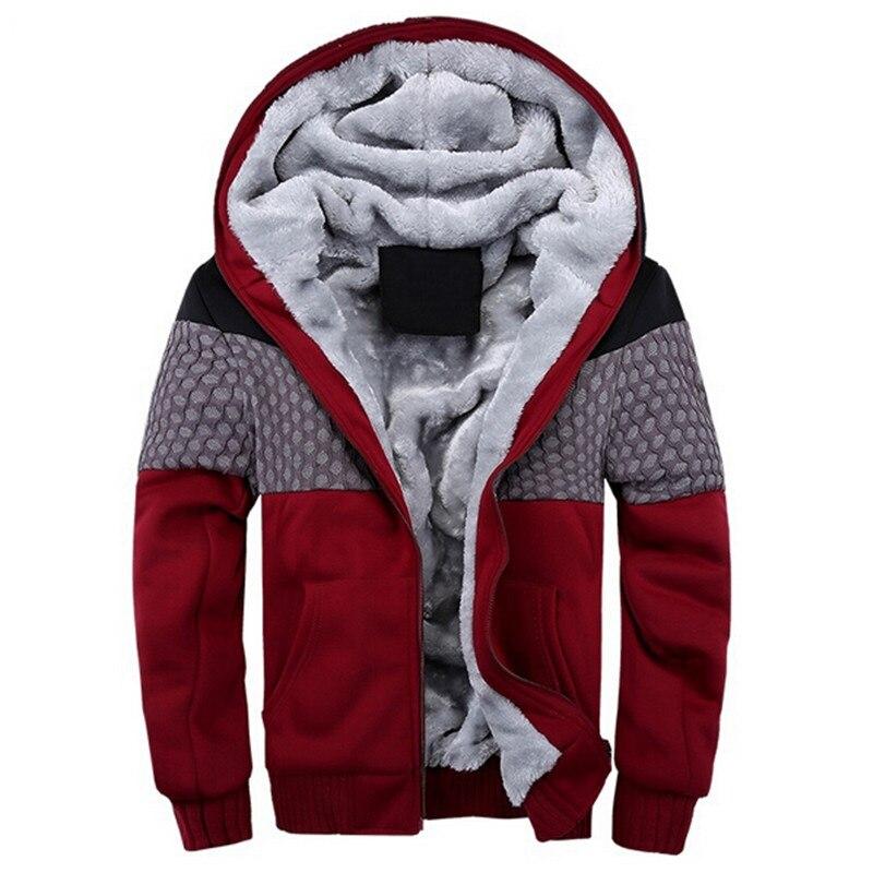 Sweatshirt Winter Thick Hoodies Men Fashion Cotton Hoodie Tracksuit Men fleece Cardigans mens sweatshirts 4XL 5XL