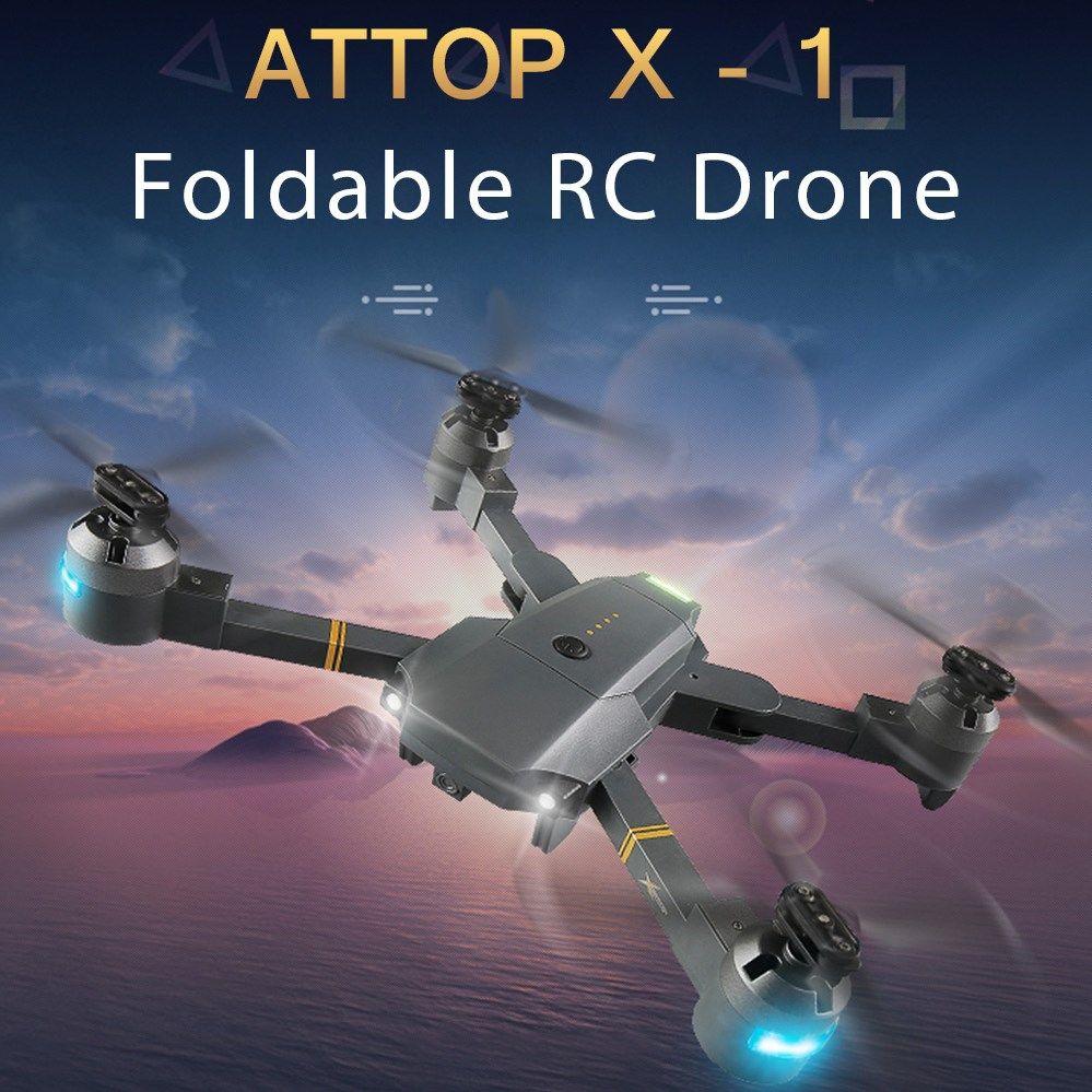 ATTOP XT - 1 Foldable RC Drone WiFi FPV Camera /USB Cable /Altitude Hold /360-Degree Flip /APP Control /Headless Mode Quadcopter attop xt 1 wifi 2 4g fpv drone camera 3d flip altitude hold foldable one key take off landing headless mode rc quadcopter