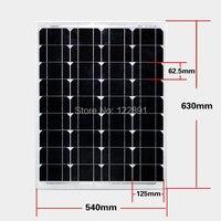 High Quality 50W 18V Monocrystalline Silicon Solar Panel Used For 12V Photovoltaic Power Home Diy Solar