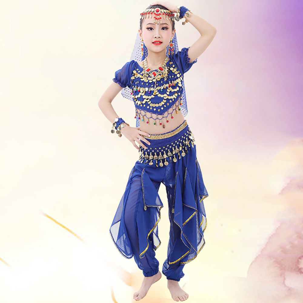 2018 Girl Children Belly Dance Costumes 2Pcs 6Pcs Chiffon 120D Sequin Clothing For Kids Genie Fringe Dance Pants Gypsy Clothes-in Belly Dancing from Novelty ...  sc 1 st  AliExpress.com & 2018 Girl Children Belly Dance Costumes 2Pcs 6Pcs Chiffon 120D ...