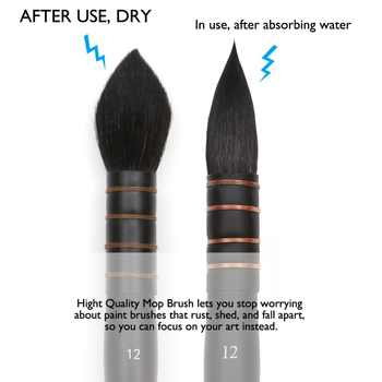 Premium Professional Round Squirrel Hair & Horse Hair Synthetic Blend Paint Brush Set With Box For Art Painting Gouache Acrylic