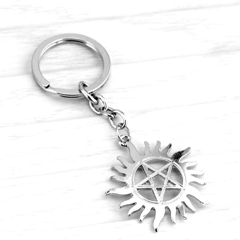 Jewelry Sets & More Dongsheng Movie Supernatural Keychain Dean Sun Pendant Key Chain Holder Ring Unisex Pentagram Metal Keychains Llaveros-50 High Quality And Low Overhead