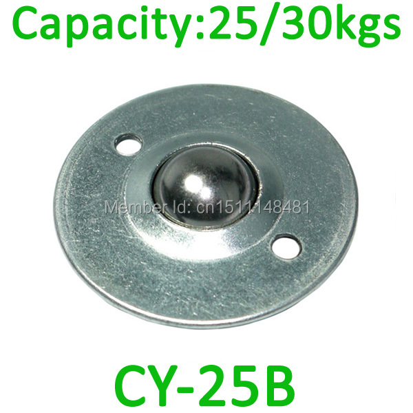 CY-25B 2 screw holes mount disc Ball transfer unit 30kg load capacity BCHE55 round flange steel ball bearing roller wheel