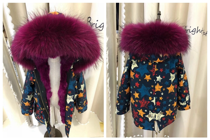 child winter real fur parkas coat (8)