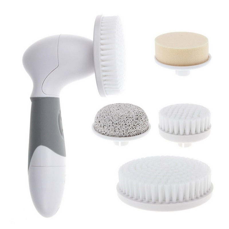 1 set 5 in 1 Multifunction Electric Face Facial Cleansing Brush Spa Mini Skin Care massage Brush face care tool skin care electric face brush ultrasonic cleansers whitening oil control electric facial cleansing brush face care machine