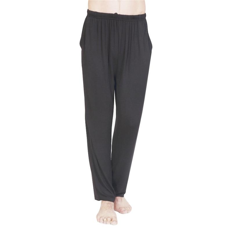 Loose Casual Mens Pants Home Pants Elastic Waist Pajama Modal Trouser Sleepwear Homewear ...