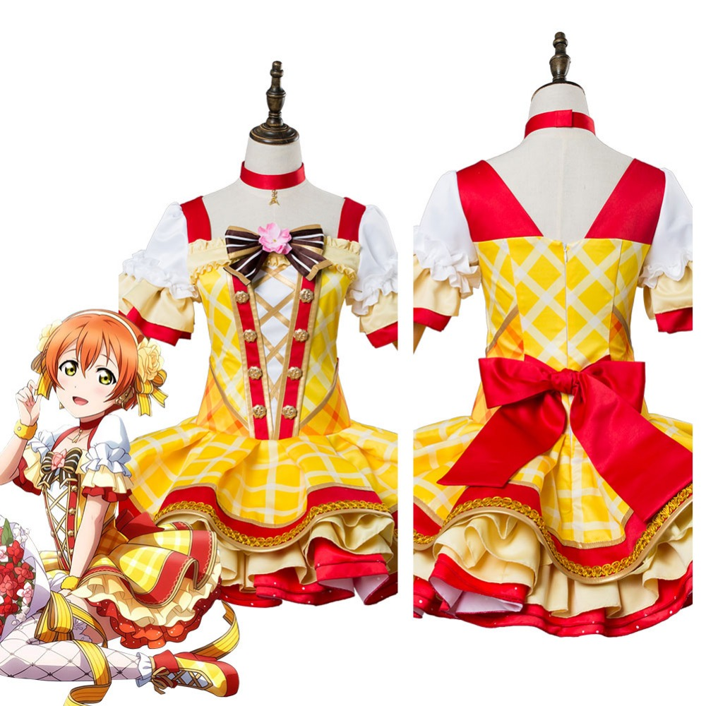 Rin Hoshizora Cosplay Love Live School Idol Project ASCOSING Flower Bouquet Idolized Costume