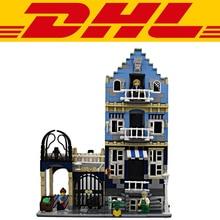 2017 NEW 1275Pcs City Street European Market Street Model Building Kits Blocks Bricks Toys Compatible With 10190