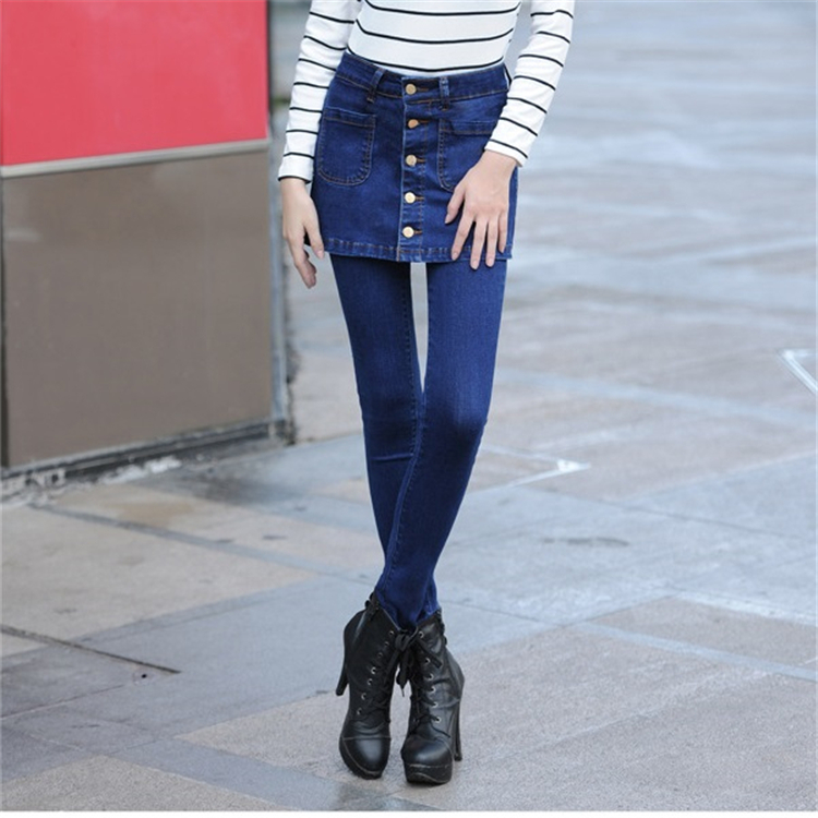 2017 new high waisted jeans female trousers pencil pants WP87