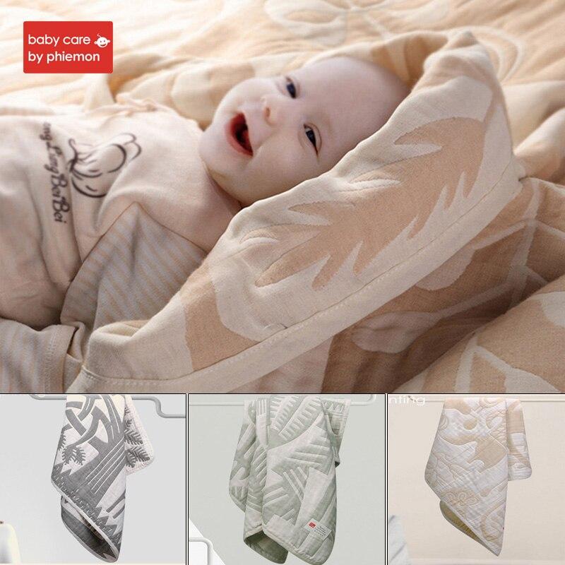 BabyCare 105x105 cm bébé nouveau-né couverture en coton naturel doux respirant lange d'emmaillotage mousseline literie bain couverture de couchage