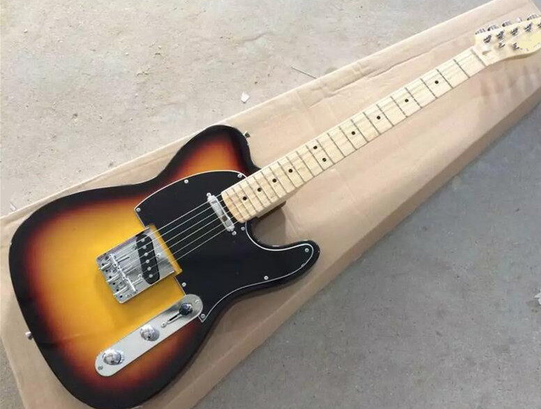 Factory custom-made sunset electric guitar, black guard board, maple finger board, free delivery. Factory custom-made sunset electric guitar, black guard board, maple finger board, free delivery.