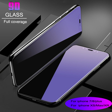 10 pcs 9H Tempered Glass Blu-ray film For Iph 7 /7 plus /8/ 8 plus /XS /XS Max/XR Screen Protector film glass screen protector
