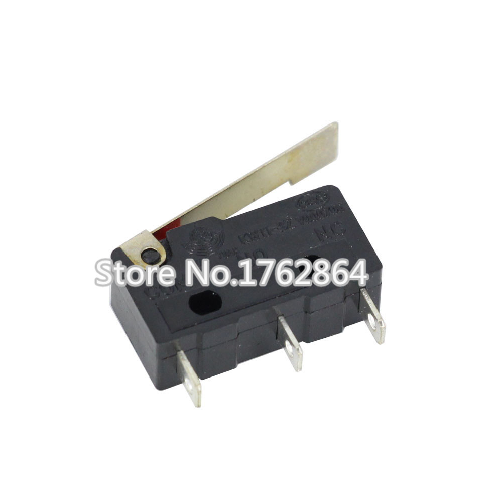 100 PCS/lot Limit Switch, 3 Pin Long handle ,N/O N/C High quality All New 5A 250VAC KW11-3Z Micro Switch Factory direct sale