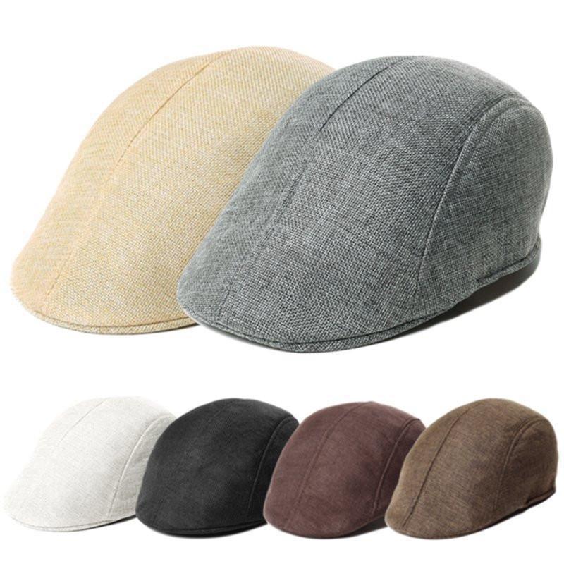 Fashion Men Womens Duckbill Cap Golf Driving Flat Cabbie Newsboy Beret Hats Berets