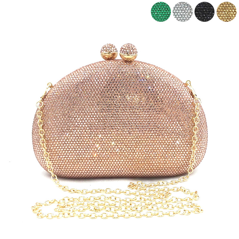 Bridal wedding party women evening party cross body bag luxury bag clutches elegant solid hot drill
