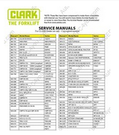Clark Service Manual aliexpress com buy clark service manual from reliable service  at gsmportal.co