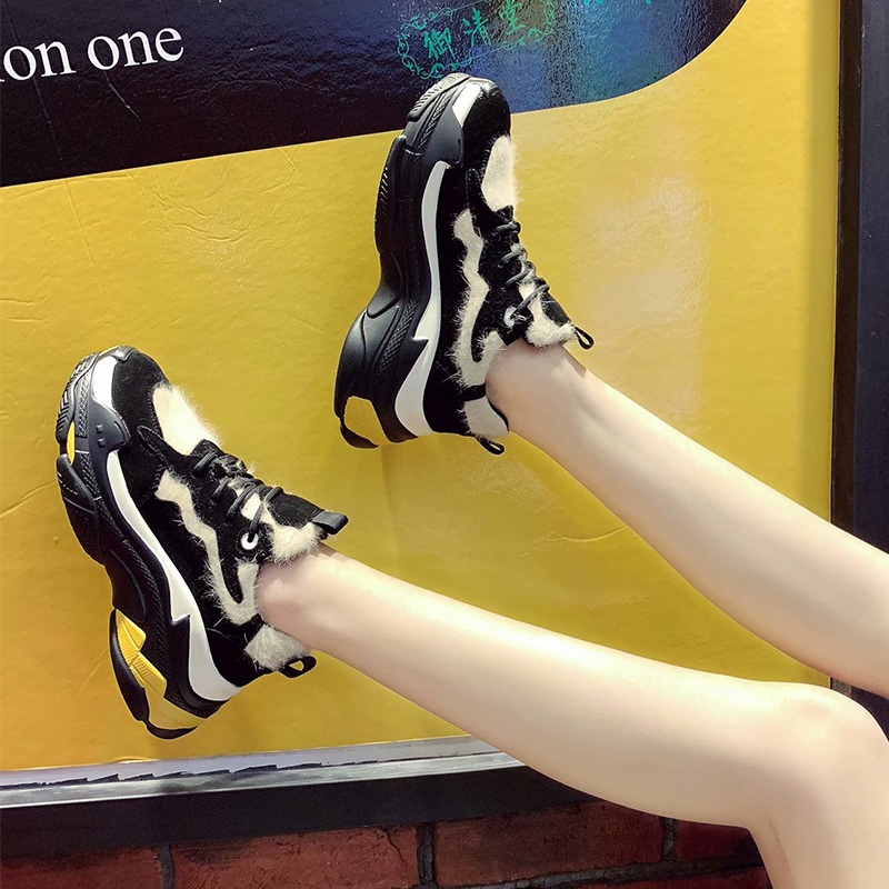 Zapatos Moda De Nueva Tendencia Negro Alto Plataforma Color 2018 Bottom Tacón Terciopelo 6 Muffin Casual Cm d5Xw00q
