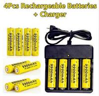 2017 New 4pcs Brand 18650 Battery 3 7V 9900mAh Rechargeable Li Ion Battery For Cell 18650