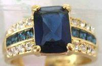 FREE Shipping Genuine Blue Tourmaline Tanzanite Silver Ring Sz 7 8 9 10