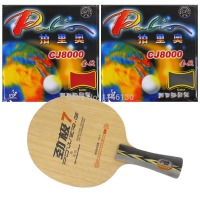 Pro Table Tennis Ping Pong Combo Racket DHS POWER G7 2Pcs Palio CJ8000 2 Side Loop