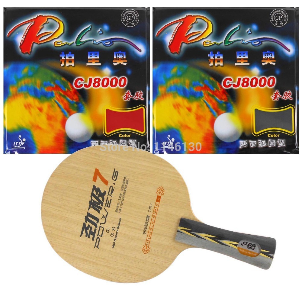 ФОТО Pro Table Tennis PingPong Combo Racket DHS POWER G7 PG7 PG.7 with 2Pieces Palio CJ8000 (2 Side Loop Type) 2015 The new listing