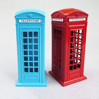 Hand Made Mode Iron Europe Telephone Booth Pressure Tank Crafts Retro Vintage Antique Metal Handicrafts Model