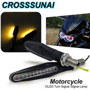 Image 1 - 2 個 4 個ウインカーのバイクled警告ライトウインカー流水フラッシャーライトテールストップインジケータ内蔵屈曲可能なランプ