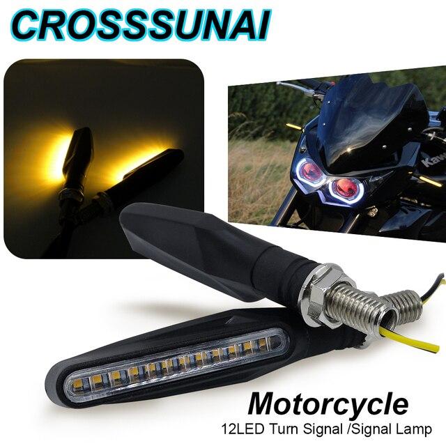 2 個 4 個ウインカーのバイクled警告ライトウインカー流水フラッシャーライトテールストップインジケータ内蔵屈曲可能なランプ