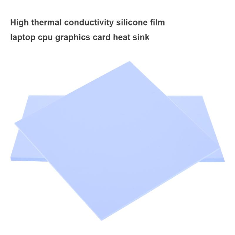 100x100mm 0.5mm Silicone Thermal Pad Sheet Computer CPU Graphics Chip Heat Sink for Computer CPU High Quality Super Soft 300x300x0 025mm high heat conducting graphite sheets flexible graphite paper thermal dissipation graphene for cpu gpu vga