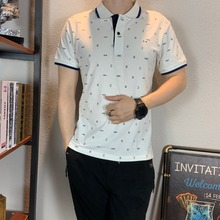 2019 Polo shirt men new polos para hombre poloshirt brand print fashion casual cotton plus size XXXL short sleeve homme camisa