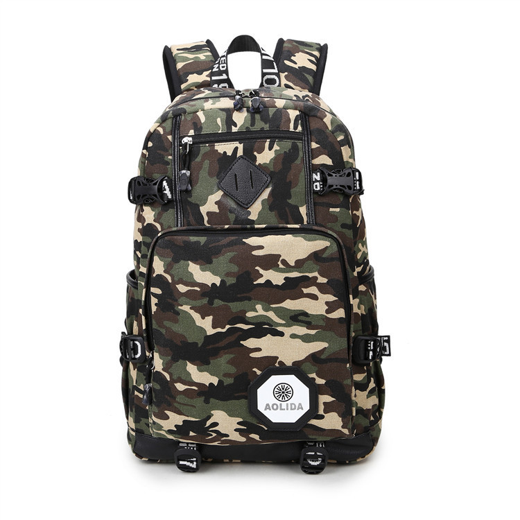 Image 5 - 2018 Men's Backpack Female Camo School Bags For Boy Girl Teenagers High School Middle back pack Large mochila feminina AXB21-in Backpacks from Luggage & Bags