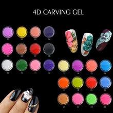 EA 24 Colors Sculpture Nail Gel 3D Carved UV Gel Creative DIY Nail Art Decor 3D Gel