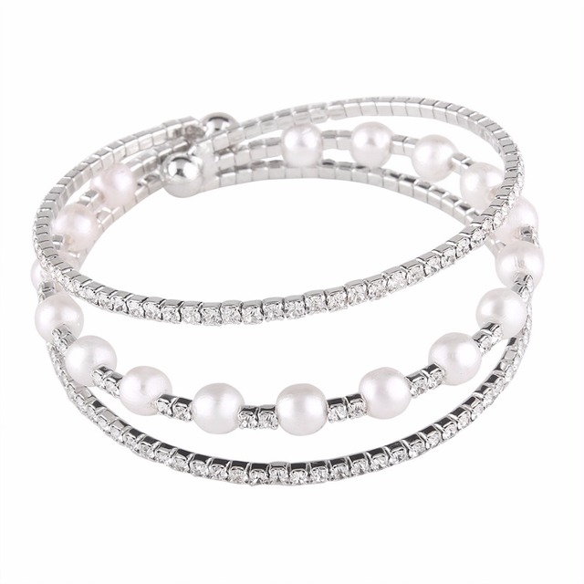 Women Bracelets Fashion High Quality Imitation Pearls Fashion
