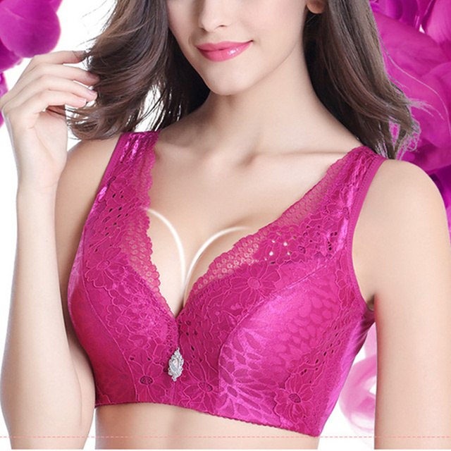 bbed64372a9ad Women Sexy Seamless Lace Bra