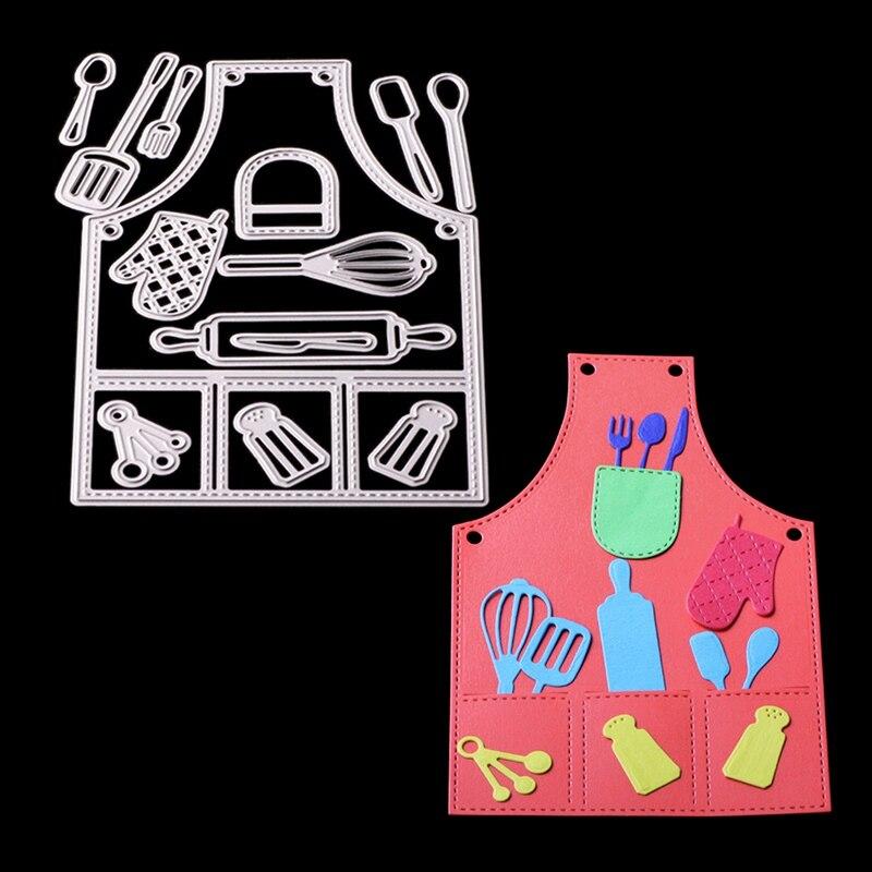 Redelijk Metalen Stansmessen Embossing Stencil Leuke Keuken Schort Gereedschap Patroon Sterven Craft Voor Diy Kaarten Album Boek Scrapbooking Decoratie