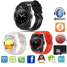 Sync V8 Reloj Bluetooth Reloj Inteligente Con Tarjeta SIM TF Notificador Smartwatch Para Android IOS Reloj Redondo PK GT08 DZ09 Reloj Deportivo