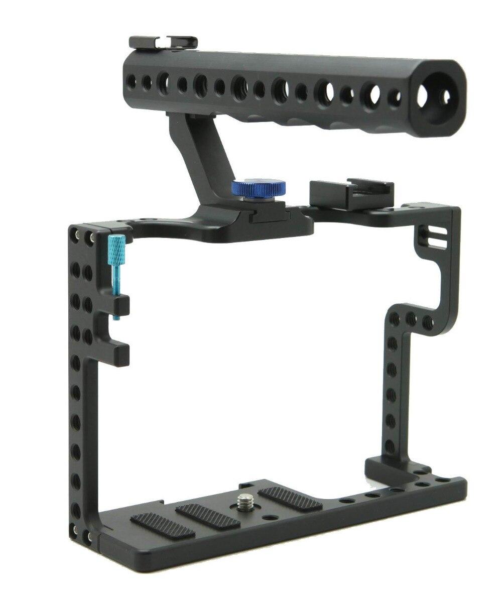 цена на DSLR Camera Cage With Top Handle Grip For Panasonic Lumix GH5 Camera Rig F20577